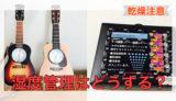 アコースティックギターの湿度管理